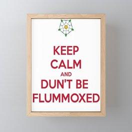 Keep Calm and Dun't Be Flummoxed Framed Mini Art Print
