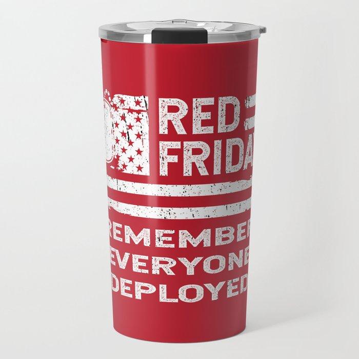 Red Friday American Flag RED Travel Mug