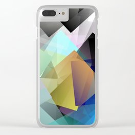Holographic mountains in Silicon Valley. Clear iPhone Case
