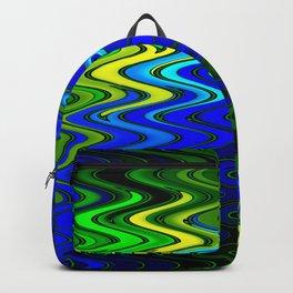 WAVY #2 (Blues, Greens & Yellows) Backpack
