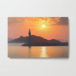 Lighthouse Evening Art Metal Print