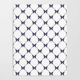 Simple Butterfly pattern Poster