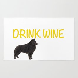 Wine and Schipperke Rug