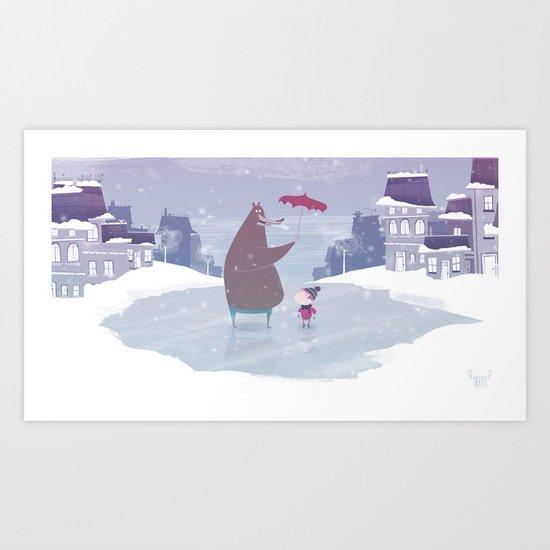 la neige Art Print