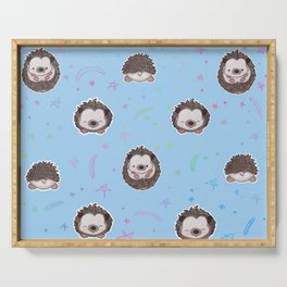 Hedgehogs Blue Serving Tray