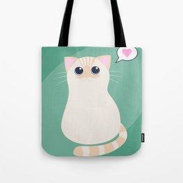 I meow you - green Tote Bag