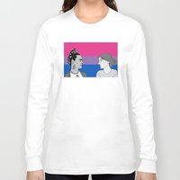 bisexual Long Sleeve T-shirts featuring Bisexual Pride by Grace Teaney Art