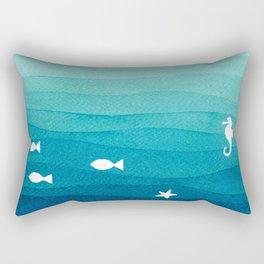Desert island Rectangular Pillow