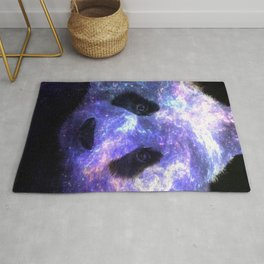 Galaxy Panda Space Colorful Rug
