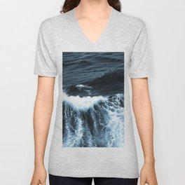 Dark Sea Waves Unisex V-Neck