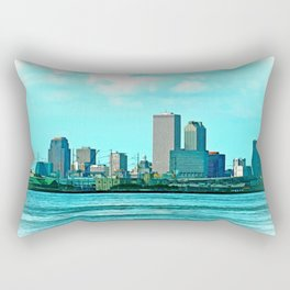 New Orleans Skyline (video game graphic style) Rectangular Pillow