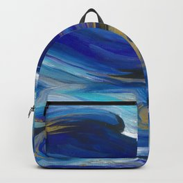 Enchanting Blue Movement- Abstract Painting Backpack