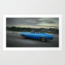 Blue '69 Chevelle Art Print