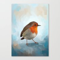 robin Canvas Prints featuring Robin by Freeminds