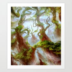 Wooded Foothills Art Print