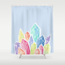 Crystals Blue Shower Curtain