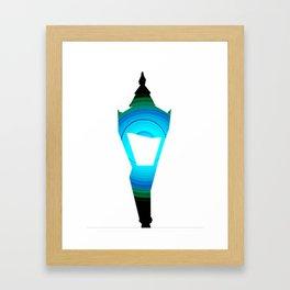 Concentric Lamppost  Framed Art Print