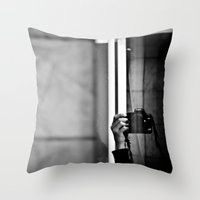 photographer Throw Pillows featuring Photographer by Estrella Díaz Photovisual