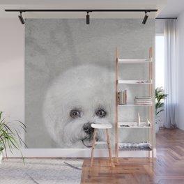 Bichon illustration, Dog illustration original painting print Wall Mural