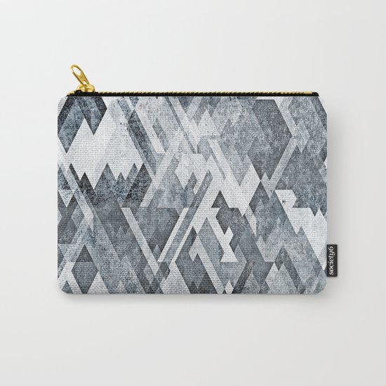 zig zag black and white Carry-All Pouch