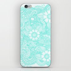 Henna Design - Aqua iPhone Skin
