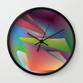 thy turn of the colors  Wall Clock