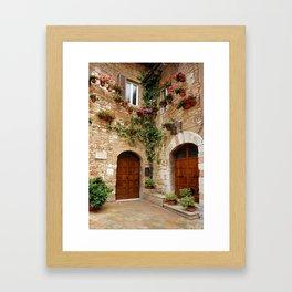 Old doorways in Italy Framed Art Print