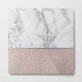 Marble + Glitter #2 Metal Print