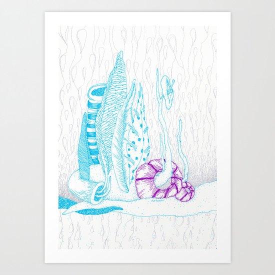 The rain from beyond Art Print