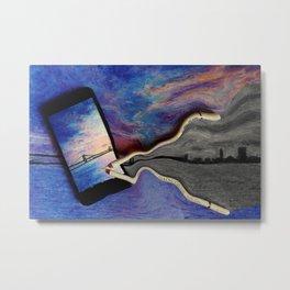 abstract art in violet Metal Print