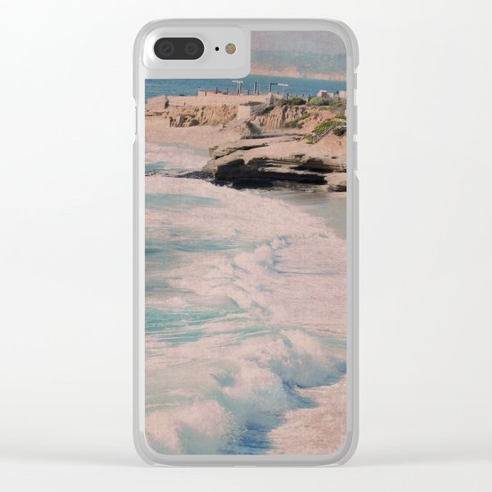 BOYS ON A ROCK Clear iPhone Case