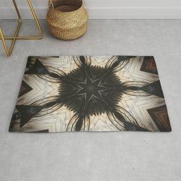 Crystal Grid // Visionary Art Sacred Geometry Black White Quartz Feather Star Healing Energy Mandala Rug