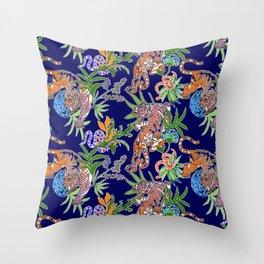 Tiger Print Throw Pillow