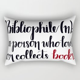 Bibliophile Defined Rectangular Pillow