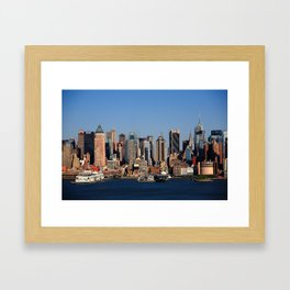 New York City Skyline 12 Framed Art Print