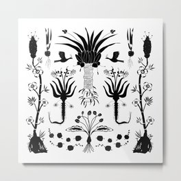 Abundance in Black Metal Print
