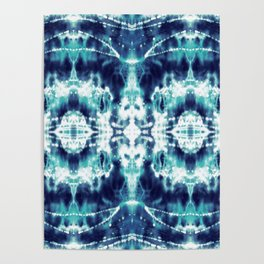 Celestial Nouveau Tie-Dye Poster