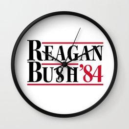 Reagan Bush 84 Wall Clock