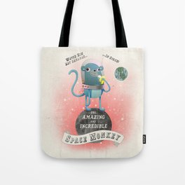 space monkey cream Tote Bag