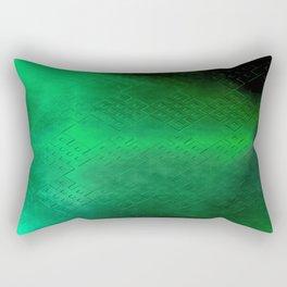 Eternal Knot Pattern 2 (Emerald) Rectangular Pillow