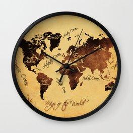 world map 75 Wall Clock