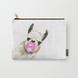 Bubble Gum Sneaky Llama Carry-All Pouch