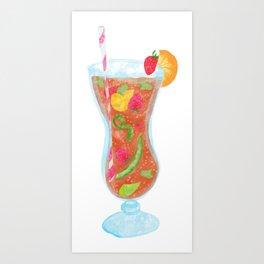 Refreshing summer drink illustration Art Print