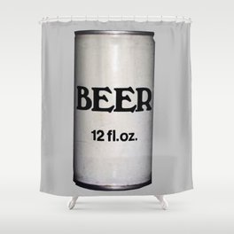 BEER ON GREY Shower Curtain