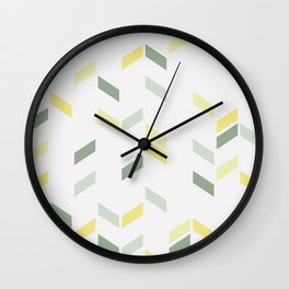 Geometric Confetti (Tropical Party) Wall Clock