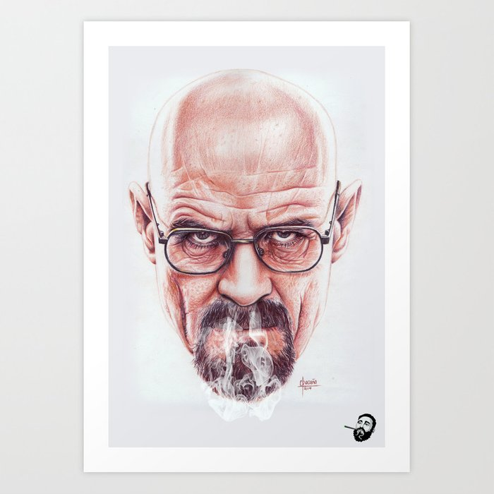 Walter White on Vapor by Cleofe Pacaña Art Print