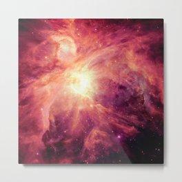 Orion NEbula Burgundy Magenta Metal Print