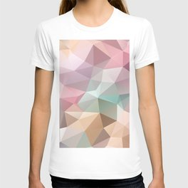 Abstract triangles polygonal pattern T-shirt