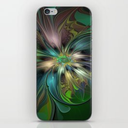 Colorful Abstract Fractal Art iPhone Skin