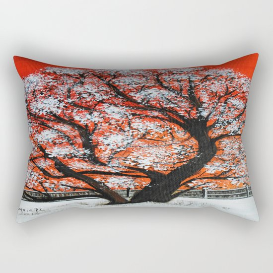 Snowy old tree Rectangular Pillow